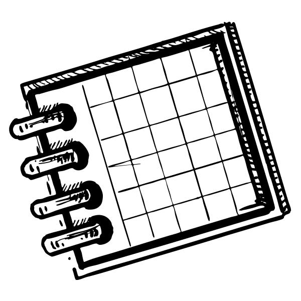 Sketch of a desk calendar.